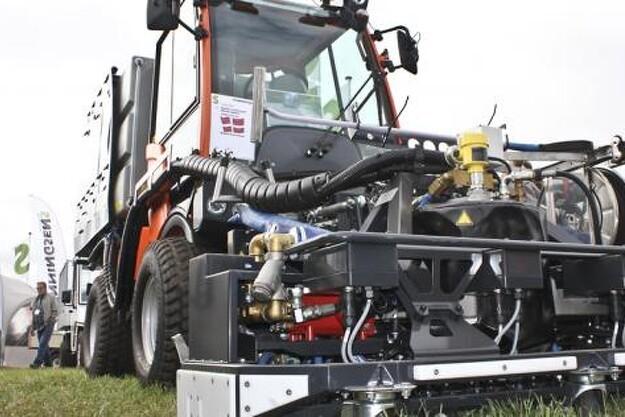 Norske Heatweed Technologies havde på Svenningsens stand på H&L'13 danmarkspremiere på et nyt system til ukrudtsbekæmpelse.