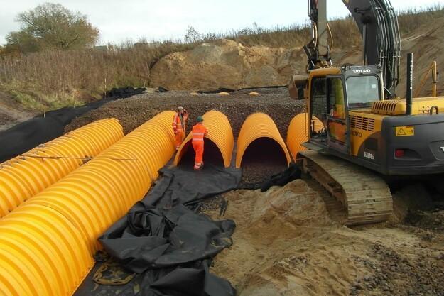 Utraditionel regnvandsløsning med stor kapacitet