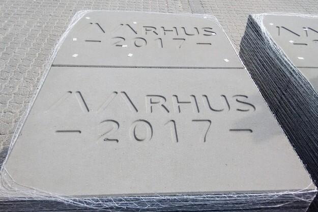'Aarhus 2017' på fortorve i Smilets By