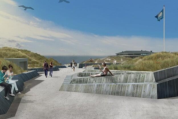 Nyt kystprojekt skal binde populær strand sammen med byen