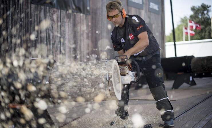 Danmarksrekord i timbersports slået