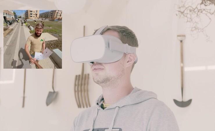 Anlægsgartner lokker medarbejdere til med virtual reality