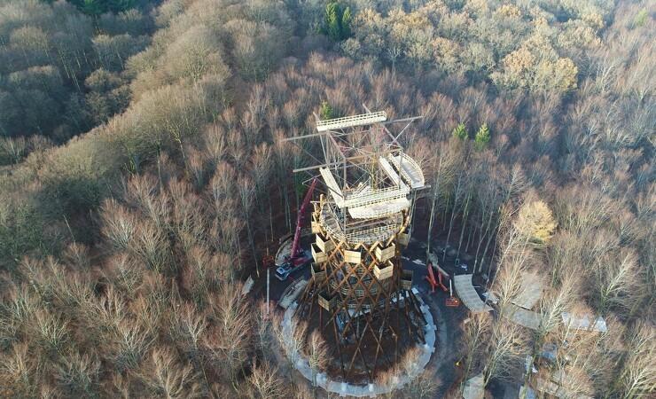 Trætårnet i skoven bliver forsinket