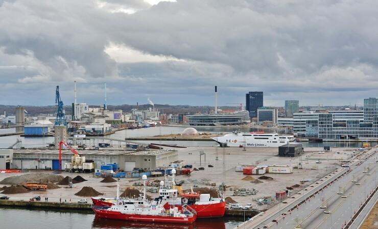 Gråkjær opfører råstofhaller på havnen i Aarhus