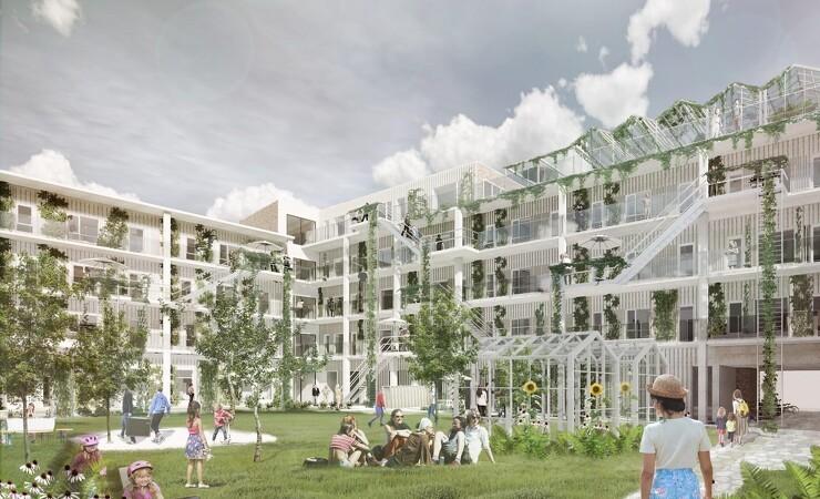 Bæredygtigt bofællesskab skyder op i Aalborg