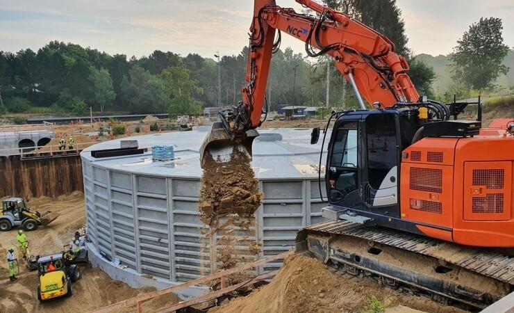 NCC når milepæl for regnvandsprojekt og ruinpark