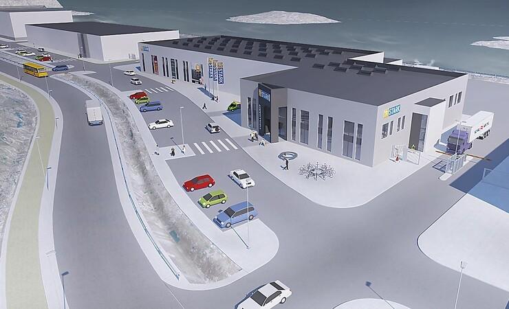 Stark bygger stor trælast i Nuuk