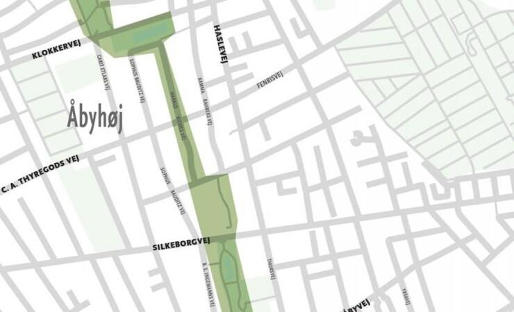 Klimatilpasning danner grøn kile gennem Aarhus-bydel
