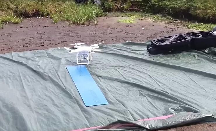 Droner kortlægger vandplanter fra luften