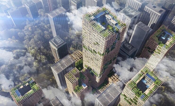 Japanere vil bygge 350 meter høj skyskraber af træ