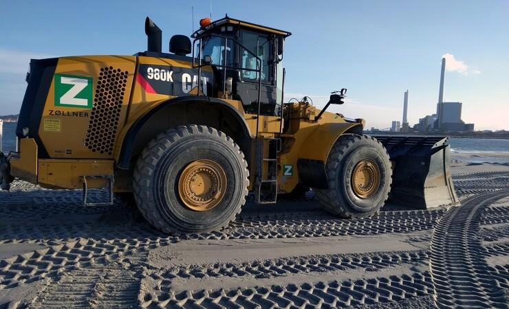 Havneudvidelser kræver store maskiner