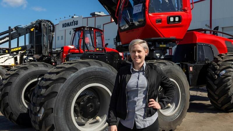 Svensker første kvinde i spidsen for Komatsu-fabrik