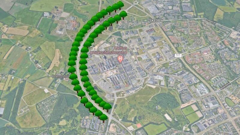 700 nye vejtræer om Skejby Sygehus