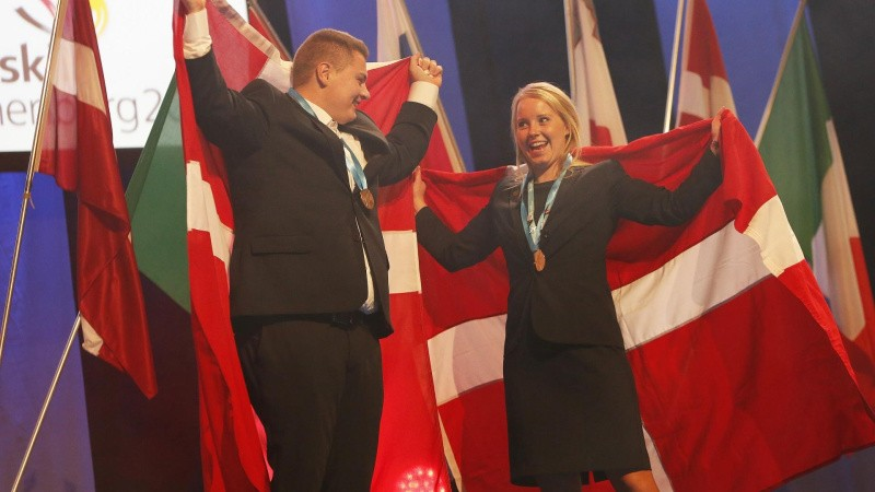 Danske anlægsgartnere vinder bronzemedaljer ved Euroskills
